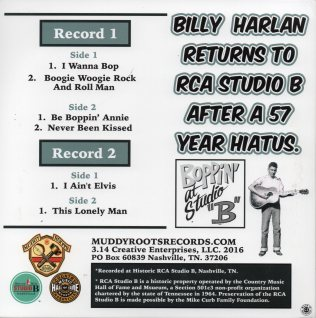 Billy Harlan - EP back